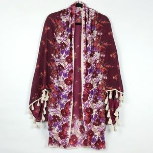 Free People Bali Wrapped Blooms Kimono Shawl